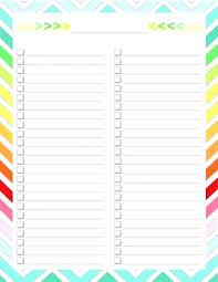 Bucket List Printable Template Printable Checklist Template To Do List Bucket Templates