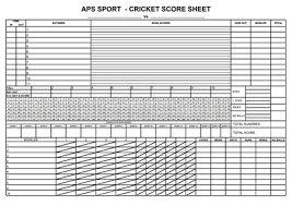 Cricket Score Card Format Cricket Score Sheet Free Download Create Edit Fill And