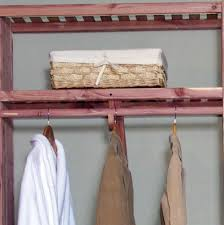 wooden closet rods and shelves
