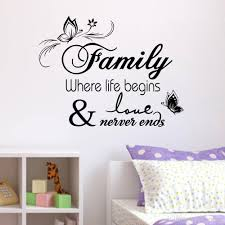 office decorative. Family Home Decor Creative Quote Wall Decals Decorative Removable Vinyl Sticker Office Decoration Mural 33*57