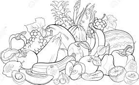 Small Picture Coloring Pages Of A Vegetable Garden anfukco
