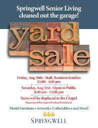 indoor yard this saturday springwell senior living home