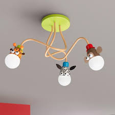 kids room ceiling lighting. baby ceiling lights nursery home ceilings lighting for kids room white circular light led animals zebra monkey modern design