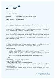 Best Photos Of Veterinarian Job Description Job Application Letter