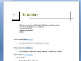 Formatos De Curriculum Simple Descargar Curriculum Vitae Simple Gratis