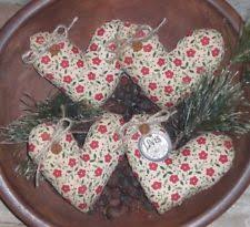 primitive valentine love red fl hearts bowl fillers ornies ornaments tucks
