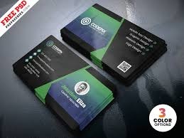 Card Design Template Psd Professional Business Card Design Template By Psd