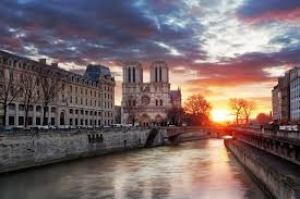 notre dame cathedral at sunrise in paris france vinyl wall mural european cities