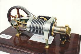 the flywheel is 4 625 diameter stirling engines have no valves carburetor ignition system or boilers and they run almost ghostly silent
