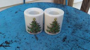 Funny Design West Germany Candle Holder 2 Funny Design West Germany Mini Candle Holders Christmas Tree