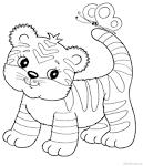 Тигренок раскраска для детей