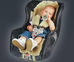 sheepskin infant seat cover shoulder
