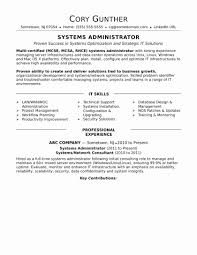 Fresh Inspirational Sample Resume For Hardware And Networking For