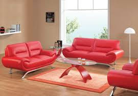 red furniture ideas. Contemporary Living Room Decoration With Unique Leather Sofa : Modern Red Orange Furniture Ideas 0