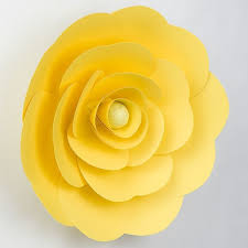 Made Flower With Paper Large 12 Inch Pre Made Yellow Ranunculus Paper Flower Wedding Backdrop Wall Decor 3d Diy