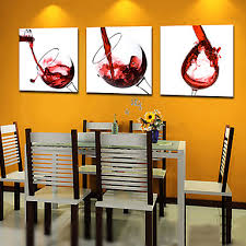 modern canvas art. Contemporary Art In Modern Canvas Painting Wall Hanging Big Abstract Paintings 3 1 Set Wine Red Glass Alcohol Restaurant Bar Dining Can Be R