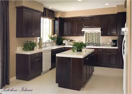 small kitchen paint colors with dark cabinets best of kitchen color ideas with dark cabinets richly detailed u shaped gallery