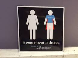 womens bathroom sign cape. Plain Womens Image A Womenu0027s Bathroom Symbol In Which The Dress Is Revealed To Be  Superhero Throughout Womens Bathroom Sign Cape