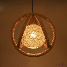 nordic style 1 light rope led pendant with rattan ball accent takeluckhome com