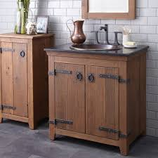Bathroom Single Vanity Americana Rustic Bathroom Vanity Bases Chestnut Finish Native