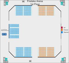 Seating Charts Firelake Arena