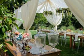 outdoor party setting
