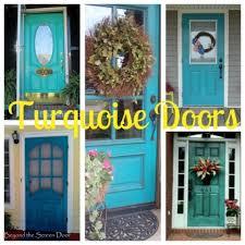 turquoise front doorA Collection of Turquoise Doors  Beyond the Screen Door