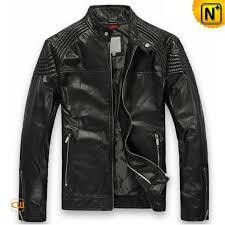 mens leather moto jacket cw809005 cwmalls com