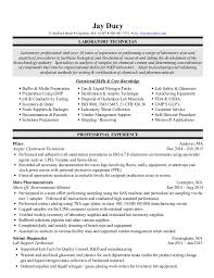 Resume For Lab Technician Awesome Jay Ducy Resume