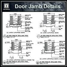 door jamb detail door jamb details cad design cad drawings blocks symbols wood door frame door jamb detail