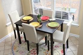 wood small dining table set