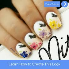 Flowers and Butterfly Nail Art – Mitty. Nail Art Tools & Brushes
