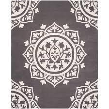 safavieh bella dark gray ivory 8 ft x 10 ft area rug