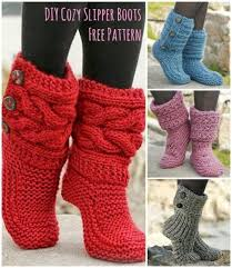 Free Knitting Patterns For Slipper Boots