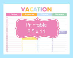 printable packing checklist printable packing list for the beach new to commandcenter on packing list template travel planner vacation packing checklist template vacation