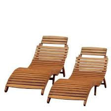 maeve natural yellow foldable 2 piece wood outdoor chaise lounge