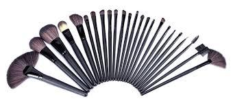 amazon louise maelys 24pcs cosmetic brush set beauty makeup kit pu leather roll pouch beauty