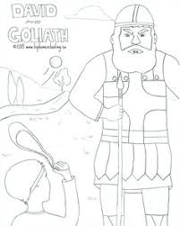 Small Picture David and Goliath free coloring sheet and lesson plan David and
