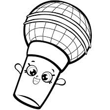 Shopkins Coloring Pages Free Linear 4016 Get Coloring Page