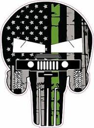3x thin green line skull american flag sticker vinyl decal car truck 3m to show support for military army navy marines armed forces. Punisher Skull Army Thin Green Line Humvee American Flag Decal Sticker Graphic Ebay