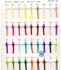 Ribbon Color Card Chinese Knot Rope Color Chart Card Chinese