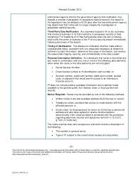 Security Breach Notification Chart 2013