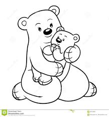 Libro Da Colorare Per I Bambini Famiglia Degli Orsi Illustrazione