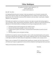 Cover Lettrer Executive Assistant Cover Letter Template Cover Letter Templates