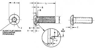 Iso 7380 Specifications Button Head Socket Fuller Fasteners