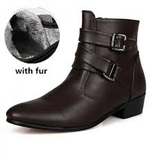 autumn winter man warm ankle boots size 39 44 black white men suede leather casual boots warm fur boots