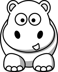 Small Picture Coloring Page Of Hippo anfukco