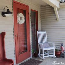 front door lightNew Front Porch Light  Rockers  Curb Appeal Hop Week 4  Lehman Lane