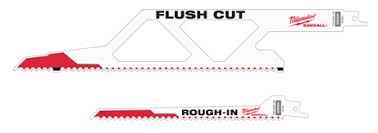 sawzall blades. when we received this latest milwaukee press release (see below) were surprised nobody had made a similar flush cut reciprocating blade before. sawzall blades