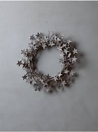 starry birch wreath